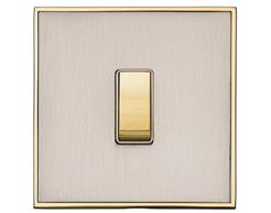 Satin Nickel with Polished Brass EX15